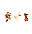 set various styles dancing professional vector image vector image