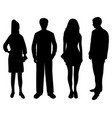 silhouettes of people of women and men vector image vector image