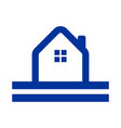 simple road side home logo outline vector image vector image