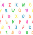 simple seamless pattern english colorful alphabet vector image
