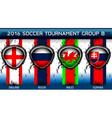 Soccer Euro Group B vector image vector image