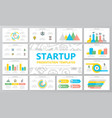 startup and business multipurpose presentation vector image vector image