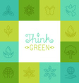 think green concept in linear style vector image
