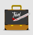travel bag and an airplane icon travel concept vector image