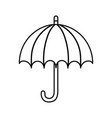 umbrella protection accessory icon thick line vector image