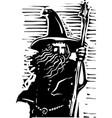 wizard bust vector image vector image
