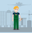 worker at airport vector image