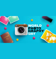 world photography day eventa banner logo vector image vector image
