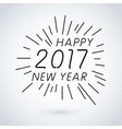 Happy new year 2017 calendar cover typographic vector image