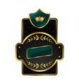 royal label with golden frame vector image