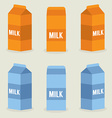Milk Boxes Collection vector image
