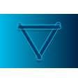 abstract blue tech triangle shape logo design vector image