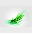 abstract green light shape vector image vector image