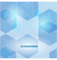 abstract hexagon background technology polygonal vector image