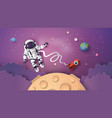 astronaut astronaut floating in the stratosphere vector image vector image