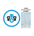Awards Rounded Icon with 1000 Bonus Icons vector image vector image