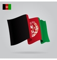 Background with waving Afghan Flag vector image