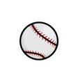 baseball stitches softball icon vector image