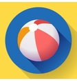Beach Ball icon Modern Flat style with a long vector image vector image