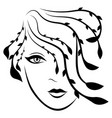beautiful fashionable lady with stylized hair vector image vector image