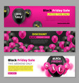 black friday cards with balloon vector image