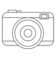 black line photographic camera vector image vector image