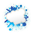 Blue Grunge Poster With Abstract Speech Bubbles vector image vector image