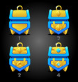 blue treasure chests for games 4 step rating vector image vector image