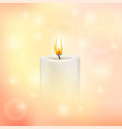 blurry soft background with candle vector image