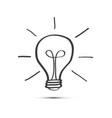 bulb icon light symbol doodle idea concept vector image vector image