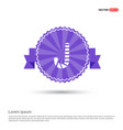 candy cane icon - purple ribbon banner vector image vector image