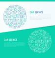 car service concept in circle vector image vector image