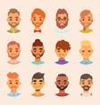 character various bearded man face avatar fashion vector image vector image