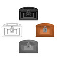 chest icon cartoonblack singe western icon from vector image