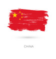 china colorful brush strokes painted national vector image