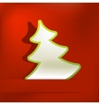 Christmas tree applique background EPS8 vector image vector image