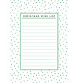 christmas wish list blank paper printable vector image