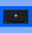 clean video player template with simple buttons vector image vector image