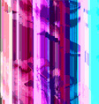 colored abstract glitch art design background vector image
