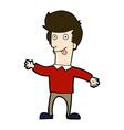 comic cartoon man sticking out tongue vector image vector image