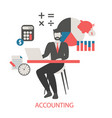 concept of accounting concept of accounting vector image