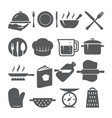 cooking icons set on white background vector image vector image