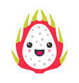 cute smiling exotic dragon fruit isolated vector image vector image