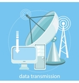 Data transmission vector image vector image