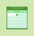 Design schedule monthly may 2014 calendar vector image
