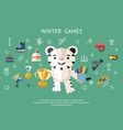 digital winter games objects color vector image vector image