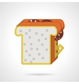 Double sandwich flat color icon vector image vector image