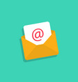 email icon mail envelope with email in flat design vector image