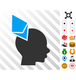 ethereum penetrated head icon with bonus vector image vector image