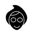 face spa mask icon black vector image vector image